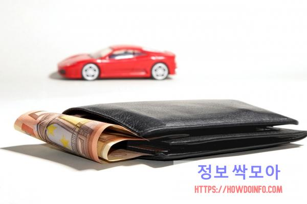신한 마이카 신차 대출 고민하는 지갑의 모습