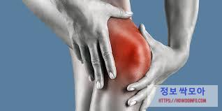무릎 연골 통증 호소하는 남자 사진