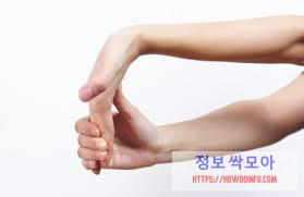 손가락 염증 확인하는 자세 및 방법